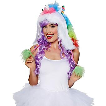 Kit Hood Unicorn Rainbow