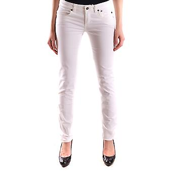 Jeckerson Ezbc069016 Women's White Cotton Jeans