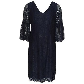 Frank Lyman Bell Sleeve Lace Overlay Evening Dress
