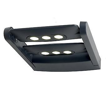 Lutec LEDSPOT 18W exterieur Twin LED Wall Light In grafiet