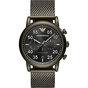 Emporio Armani Ar11115 Green Stainless Steel Mesh Bracelet Men's Watch