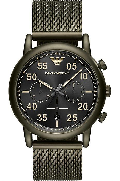 Emporio Armani Ar11115 Green Stainless Steel Mesh Bracelet Men's Watch