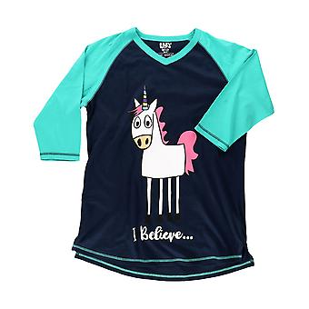 LazyOne Womens/Ladies I Believe... Unicorn Tall Pyjama Top