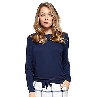 Cyberjammies 4218 Femmes Emily Navy Blue Modal Pyjama Top