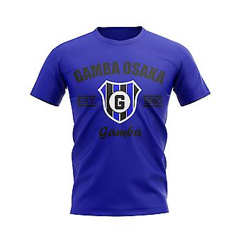 Gamba Osaka opgericht voetbal T-shirt (blauw)