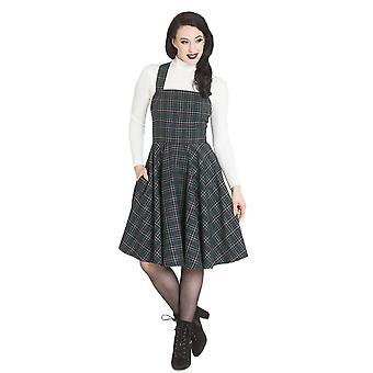 Hel Bunny groen Peebles schort jurk S