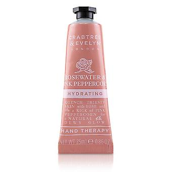 Crabtree & Evelyn Rosewater & Pink Peppercorn Hydrating Hand Therapy 25ml/0.86oz