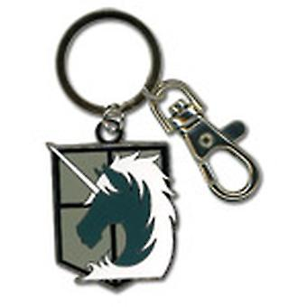 Key Chain - Attack on Titan - New Military Police Metal Anime Licensed ge36797