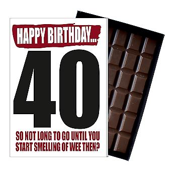 Funny 40th Birthday Gift For Men Women Rude Boxed Chocolate Greetings Card Present IYF164
