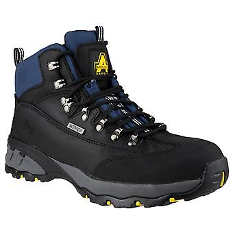 Amblers Safety Mens FS161 Waterproof Lace up Hiker Safety Boot Black
