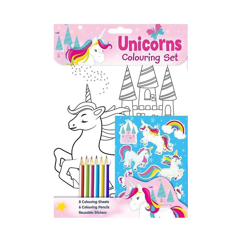 Unicorn färgning set aktivitetspaket