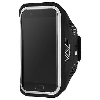 Ultra-slim black sports armband for smartphones size XXL- Wave Concept