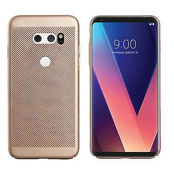 LG V30 Case Gold - Fori mesh