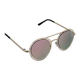 Sunglasses Ladies Round - Gold/Pink ReflecterendHL210_4
