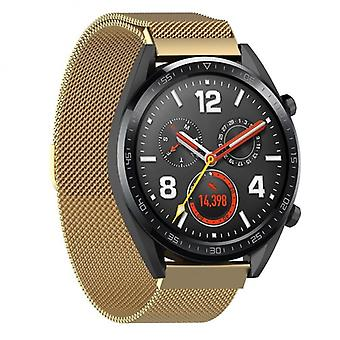 Milanese RSF stål Huawei Watch gt/Magic/Ticwatch Pro-Gold