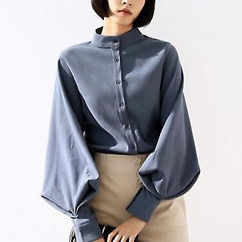 Lantern Sleeve  Office Lady Casual Blouse