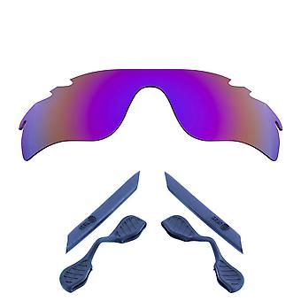 Replacement Lenses Kit for Oakley Vented Radarlock Path Purple Mirror Navy Blue Anti-Scratch Anti-Glare UV400 SeekOptics