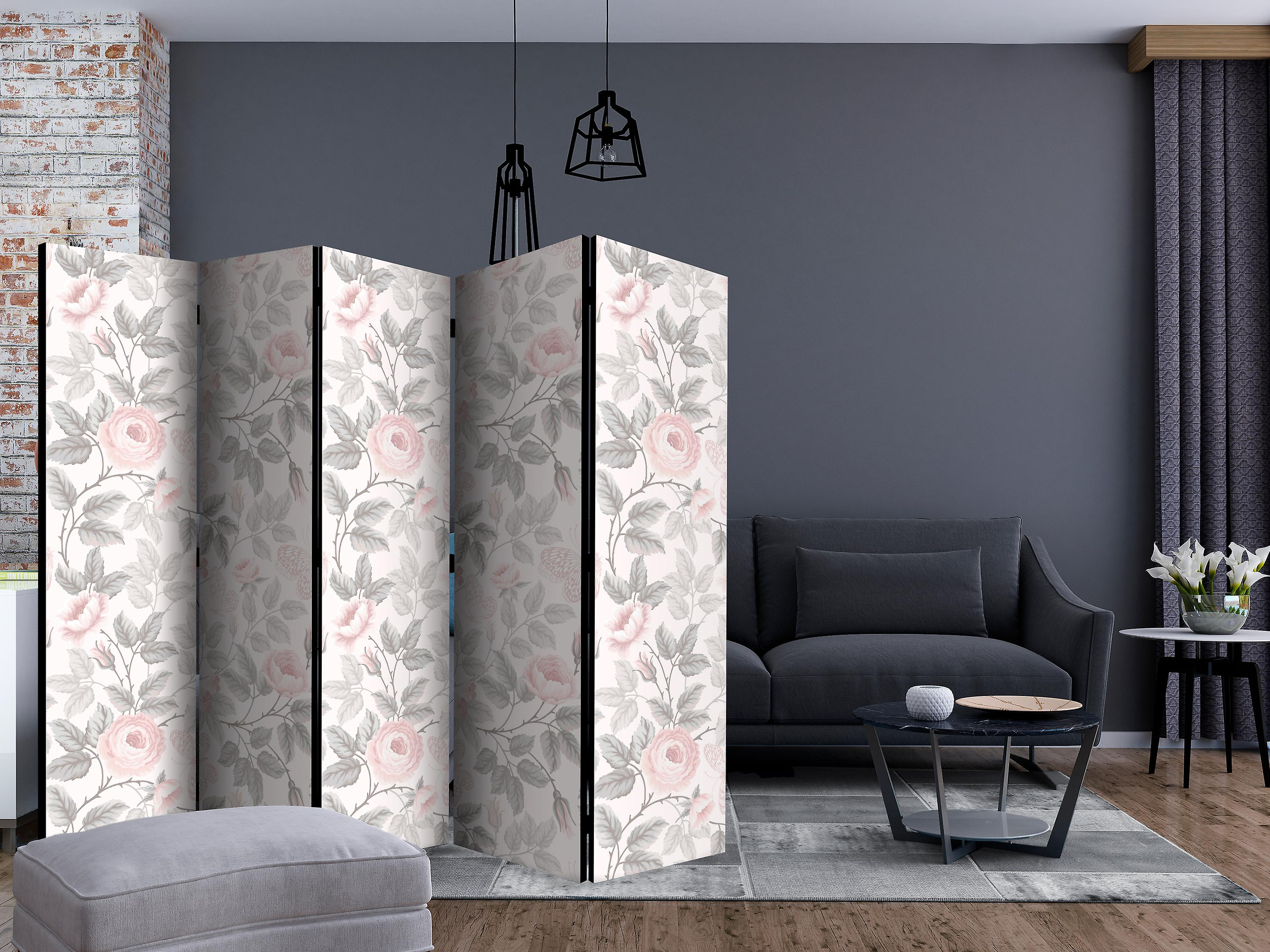 Paravent 5 volets - Watercolor Roses [Room Dividers]