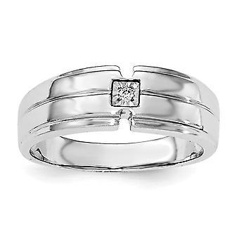 925 Sterling Gümüş Erkek Cilalı Elmas Yüzük Takı Hediyeler Erkekler için - Yüzük Boyutu: 9-11