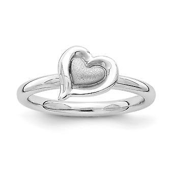 2.25mm 925 sterlinghopea rhodium kullattu pinottava ilmaisuja rhodium rakkaus sydän rengas korut lahjat naisille - Ring S