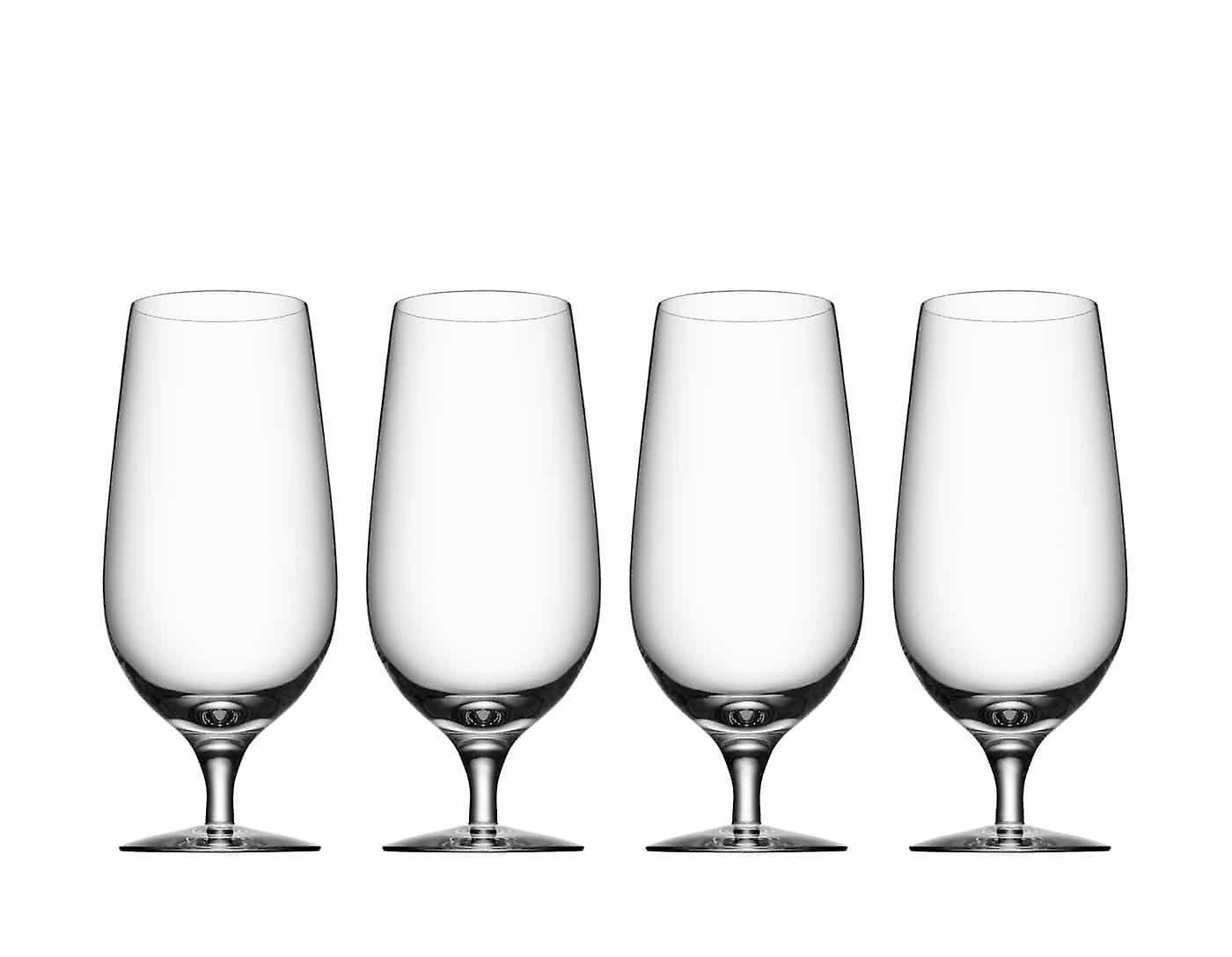 Orrefors - Beer - Lager - 4 st - Ölglas Design Erika Lagerbielke