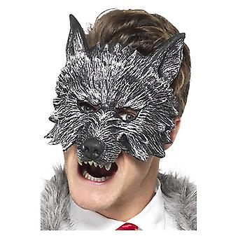 Herren Deluxe Big Bad Wolf Maske Halloween Zubehör