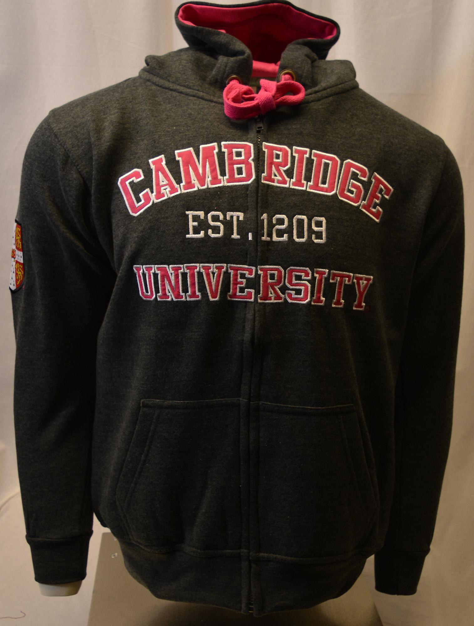 Licensed unisex cambridge university™ zipped hooded sweatshirt charcoal