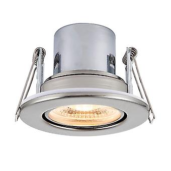 Saxby Lighting Shieldeco Fire Rated Integrated LED Tilt Recessed Light Satin Nickel Plate, Acrylic 78522