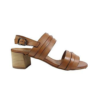 Paul Green 7426-00 Brown Leather Womens Heeled Sandals