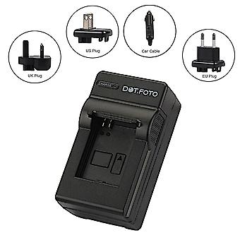 Dot.Foto LP-E6, LP-E6N Travel Battery Charger for Canon - remplace LC-E6, LC-E6E - 100-240v Mains - 12v in-car adaptateur [Voir Description pour la compatibilité]