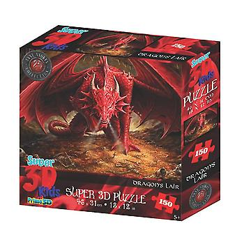 Anne Stokes Dragon's Lair 150 Piece 3D-Look jigsaw puzzle (kc)
