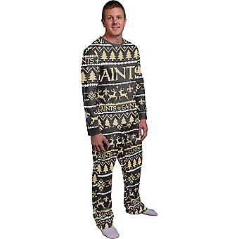 NFL Winter XMAS Pajama Pajama Pajama - New Orleans Saints