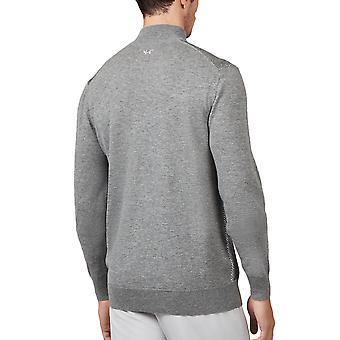 Wolsey Mens Heather Twist Mix 1/4 Zip Merino Wool Golf Sweater
