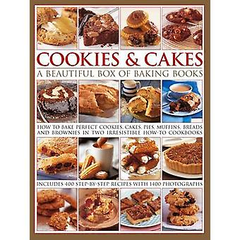 Cookies  Cakes a Beautiful Box of Baking Books by Walden & Hilaire & Clements & Carole
