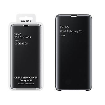 Official Samsung Clear View Case Cover for Samsung Galaxy S10 5G Version - Black