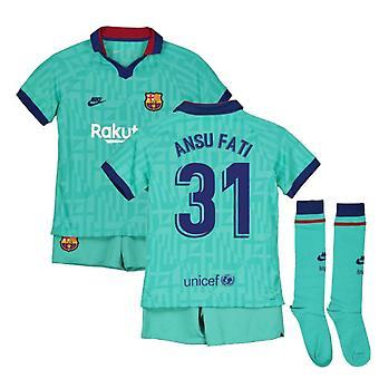 2019-2020 Barcelona Third Nike Little Boys Mini Kit (Ansu Fati 31)