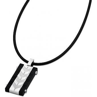 Necklace and pendant Men In Black LS1729-1-2 - necklace and pendant steel C ceramic black man