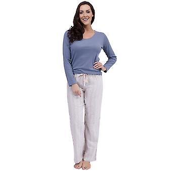 Damen Winter Warm Langer Pyjama Set Pyjama Nachtwäsche