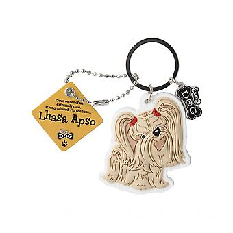Wags & Whiskers Keyring - Lhasa Apso