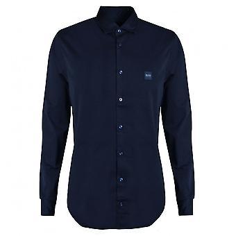 Hugo Boss Casual Hugo Boss Men's Slim Fit dunkelblau Mypop Shirt