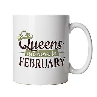 Queens Are Born In February, Mug - Birthday Cup Gift