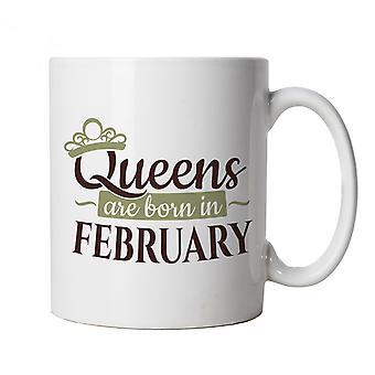 Queens nascem em fevereiro, caneca - presente da Copa de Aniversário