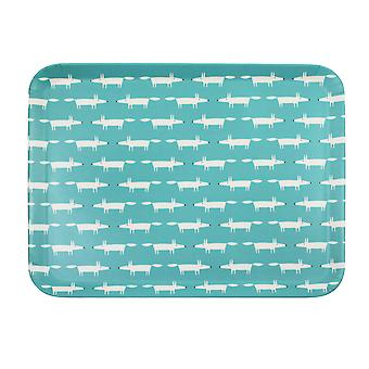Scion Mr Fox Bamboo Tray, Teal