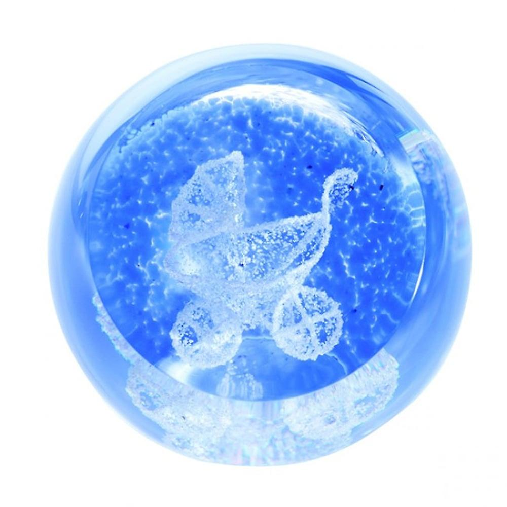 Caithness Glass Special Moments Pram Blue Paperweight