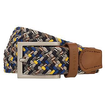bugatti Belt Men's Belt Textile Belt Stretch Belt Grey/Multi 8514