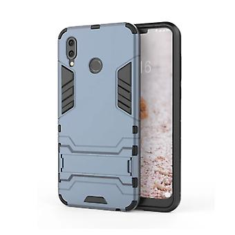 HATOLY iPhone X - Robotic Armor Case Cover Cas TPU Case Navy + Kickstand