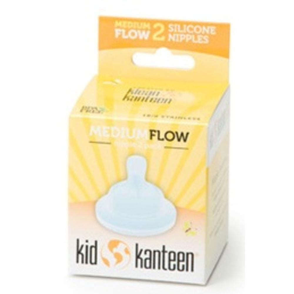 Klean Kanteen Baby Silicone Nipples Clear (Pack of 2)