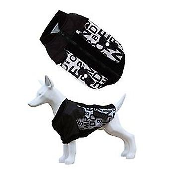 Freedog Alphabet jacket for dogs of black color (Dogs , Dog Clothes , Coats and capes)
