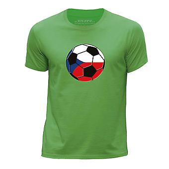 STUFF4 Pojan Pyöreä kaula T paita/Tšekki jalkapallo/vihreä