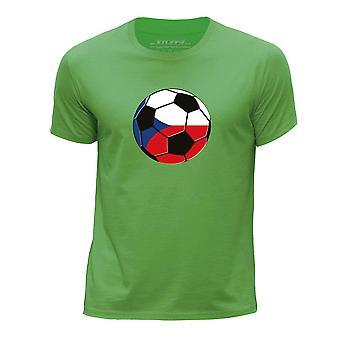 STUFF4 Boy's ronde hals T-T-shirt/Tsjechië voetbal/groen